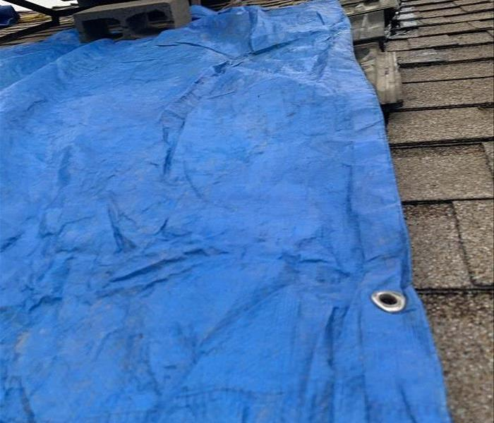 Secure and tarp the roof
