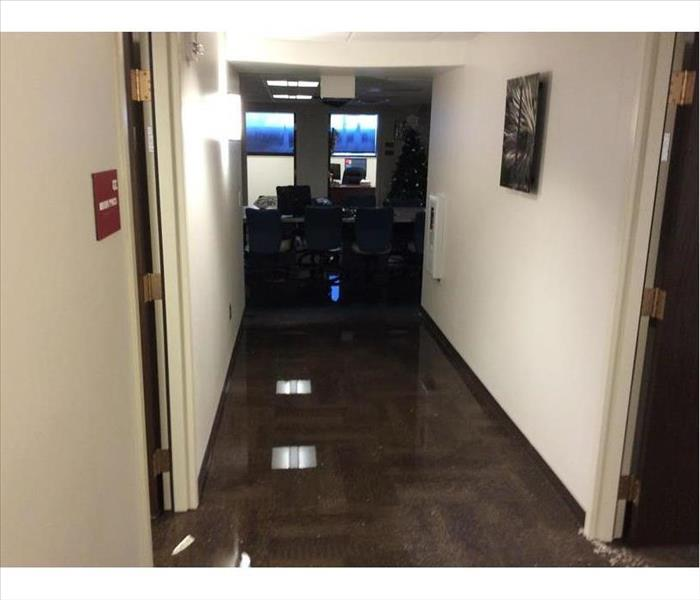 Water Pooling on Office Floor in Tracy